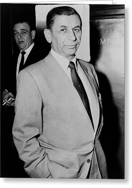 Trial Greeting Cards - Meyer Lansky - The Mobs Accountant 1957 Greeting Card by Mountain Dreams