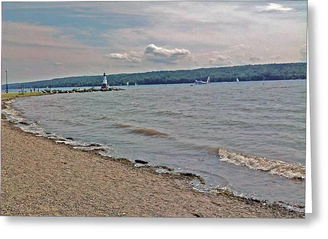 York Beach Pastels Greeting Cards - Meyers Lake  Lansing New York Greeting Card by Jo-Ann Hayden