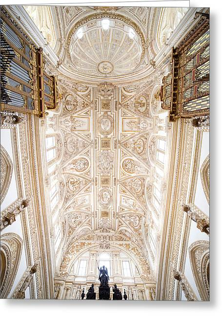 Mezquita Greeting Cards - Mezquita Cathedral Ceiling in Cordoba Greeting Card by Artur Bogacki