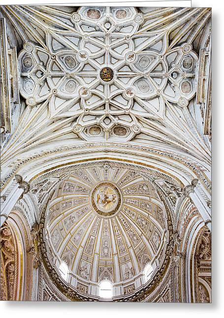 Mezquita Greeting Cards - Mezquita Cathedral Ceilings in Cordoba Greeting Card by Artur Bogacki