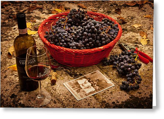 Wine Grapes Digital Art Greeting Cards - Mezzagiorno Greeting Card by John Galbo