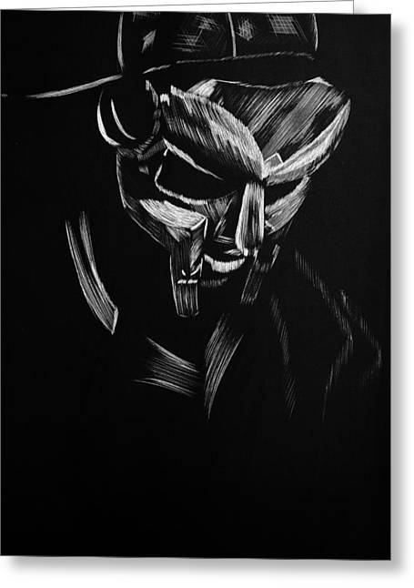 Doomed Greeting Cards - MF Doom Greeting Card by Trevor Garner
