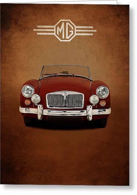 British Car Greeting Cards - Mg Mga 1500 Greeting Card by Mark Rogan