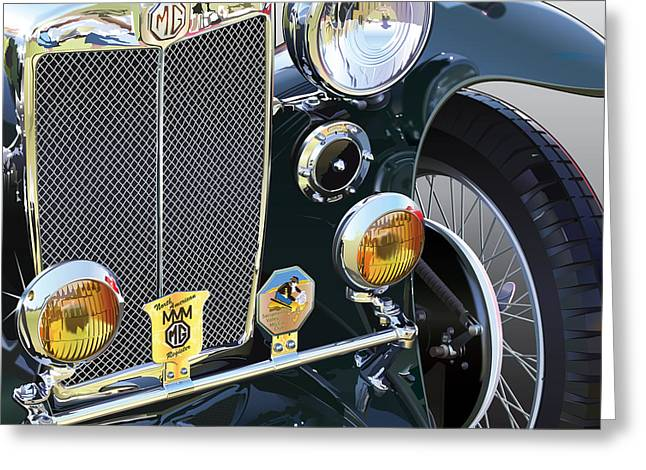 American Motors Corporation Greeting Cards - Mg-ta Greeting Card by Alain Jamar