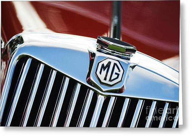 Vintage Mg Greeting Cards - MG TF 1500 Vintage Car  Greeting Card by Tim Gainey