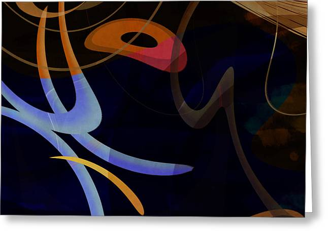 Mgl - Abstract Twirl 03 Greeting Card by Joost Hogervorst