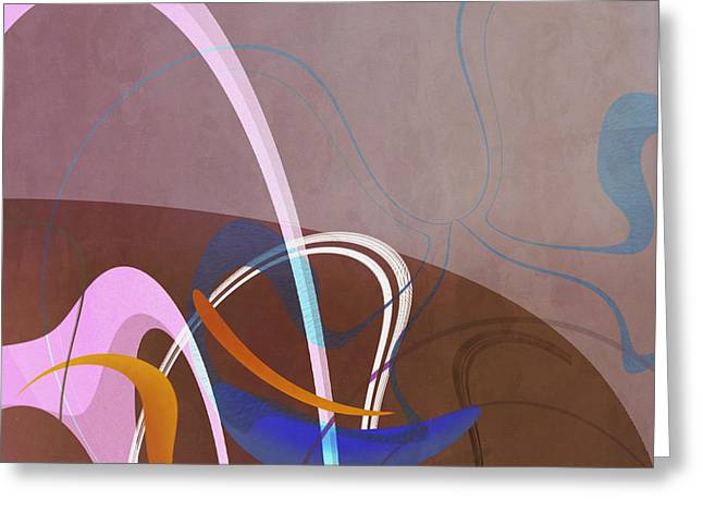 Mgl - Abstract Twirl 06 Greeting Card by Joost Hogervorst