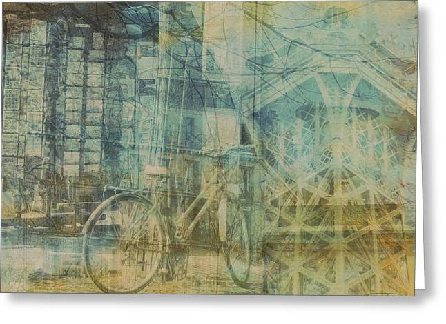 Mgl - City Collage - Paris 01 Greeting Card by Joost Hogervorst