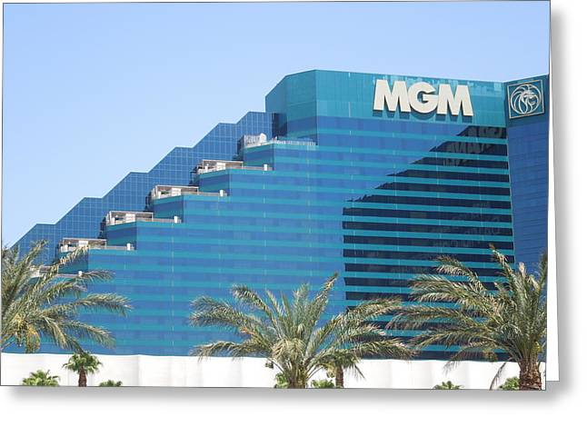 Photography Galleries On Line Greeting Cards - MGM Grand in Las Vegas Greeting Card by Ron Davidson
