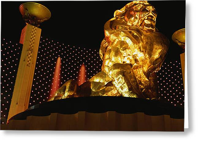 Mgm Greeting Cards - Mgm Grand Las Vegas Nv Greeting Card by Panoramic Images