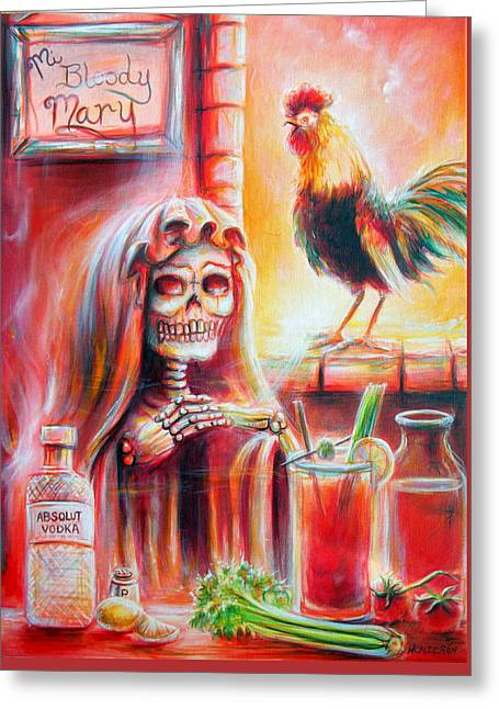Mi Bloody Mary Greeting Card by Heather Calderon