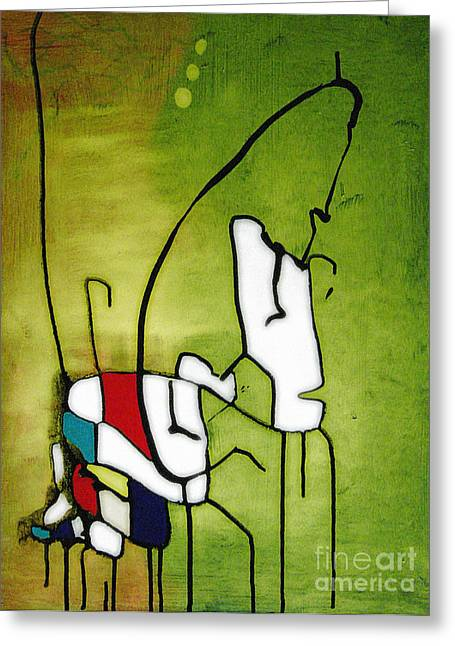 Mixed Media Greeting Cards - Mi Caballo 2 Greeting Card by Jeff Barrett