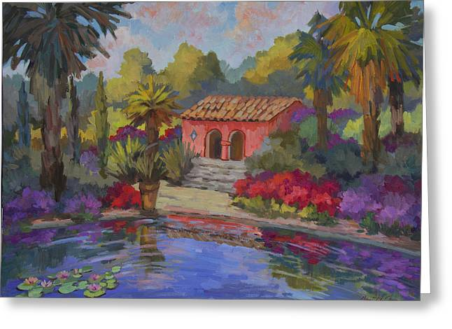 Tile Roof Greeting Cards - Mi Casa Es Su Casa Greeting Card by Diane McClary