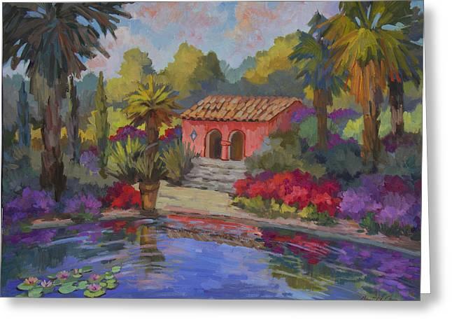 Barbara Paintings Greeting Cards - Mi Casa Es Su Casa Greeting Card by Diane McClary
