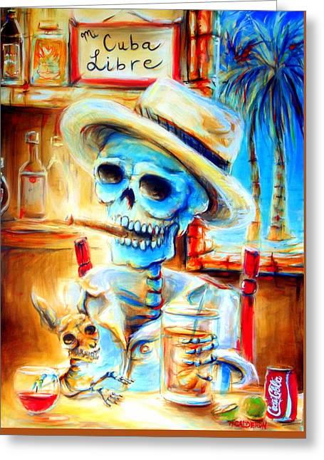 Mi Cuba Libre Greeting Card by Heather Calderon