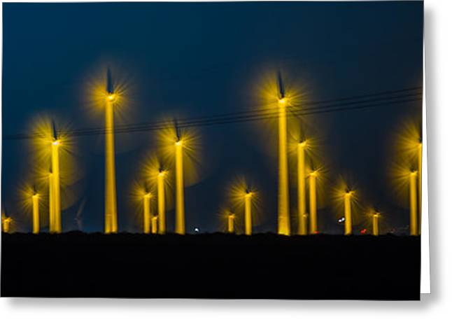 Edison Greeting Cards - MI3 Wind Turbines 1 Greeting Card by Scott Campbell