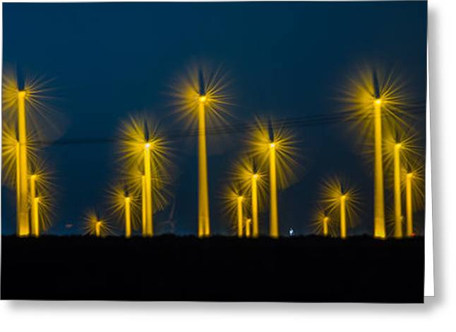 Edison Greeting Cards - MI3 Wind Turbines 2 Greeting Card by Scott Campbell
