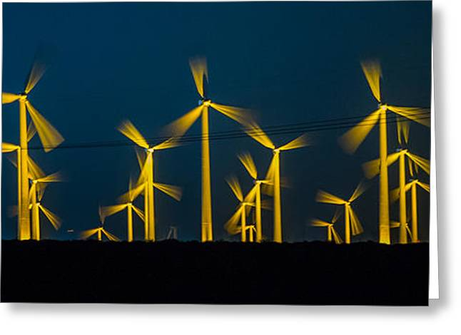 Edison Greeting Cards - MI3 Wind Turbines 3 Greeting Card by Scott Campbell
