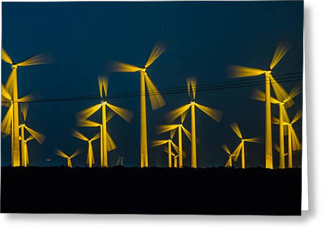Edison Greeting Cards - MI3 Wind Turbines 4 Greeting Card by Scott Campbell