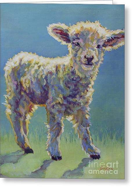 Ovine Greeting Cards - Mia Greeting Card by Patricia A Griffin