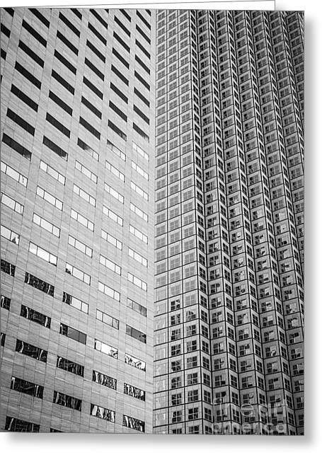 Architecture 2 Greeting Cards - Miami Architecture Detail 2 - Black and White Greeting Card by Ian Monk