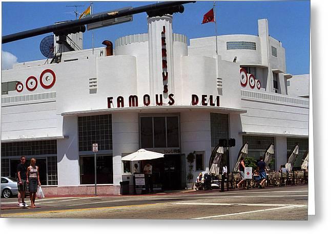 Deli Greeting Cards - Miami Beach - Art Deco 46 Greeting Card by Frank Romeo
