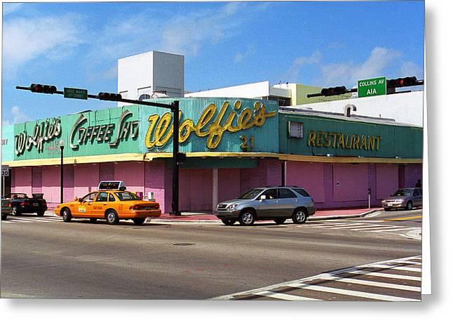 Deli Greeting Cards - Miami Beach - Art Deco 48 Greeting Card by Frank Romeo