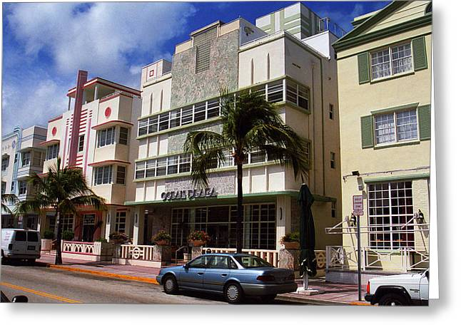 Florida Flowers Greeting Cards - Miami Beach - Art Deco 59 Greeting Card by Frank Romeo