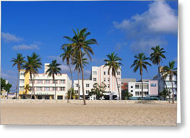 Colorful Photography Greeting Cards - Miami Beach Fl Greeting Card by Panoramic Images