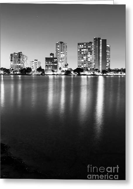 View Pyrography Greeting Cards - Miami Biscayne View Greeting Card by Eyzen M Kim