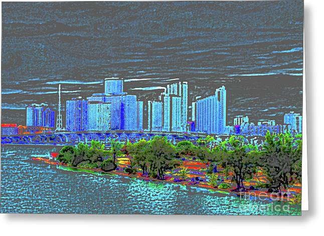 Painted Details Digital Art Greeting Cards - Miami Color Greeting Card by Molly McPherson