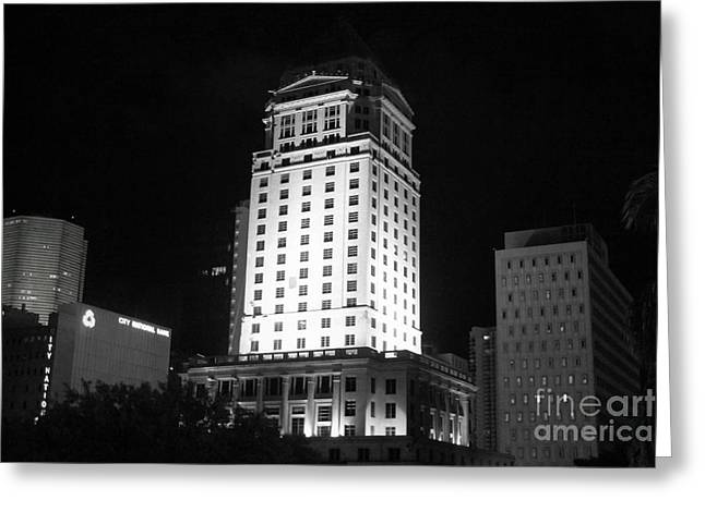 Cities Reliefs Greeting Cards - Miami Dade Civil Courthouse Greeting Card by Jason Rose