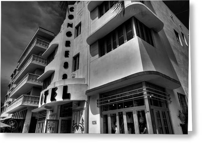 Miami Beach Greeting Cards - Miami - Deco District 010 Greeting Card by Lance Vaughn