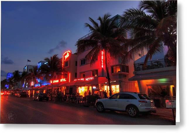 Miami - Deco District 015 Greeting Card by Lance Vaughn