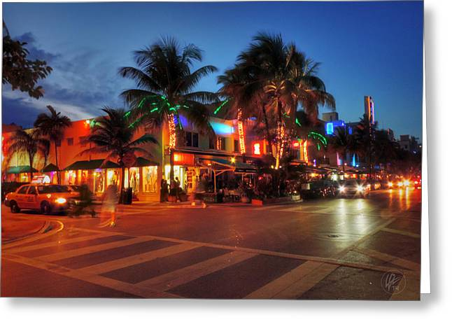 Miami Beach Greeting Cards - Miami - Deco District 016 Greeting Card by Lance Vaughn