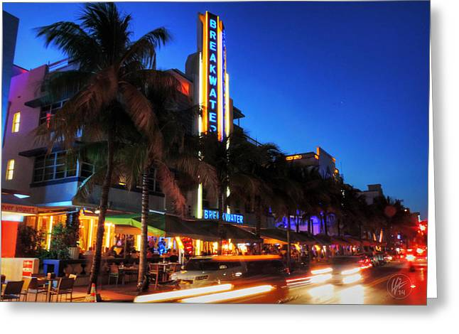 South Beach Greeting Cards - Miami - Deco District 017 Greeting Card by Lance Vaughn