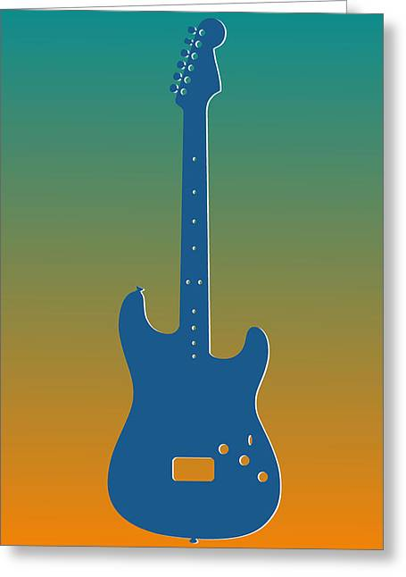 Concert Bands Photographs Greeting Cards - Miami Dolphins Guitar Greeting Card by Joe Hamilton