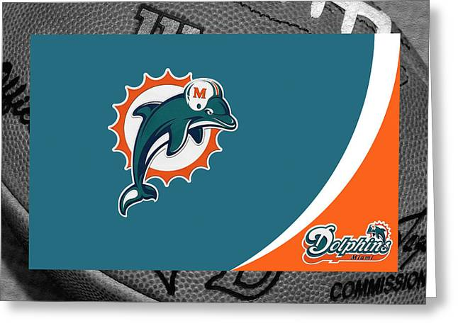 Goals Greeting Cards - Miami Dolphins Greeting Card by Joe Hamilton