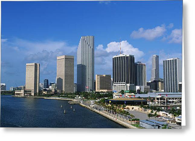 On Location Greeting Cards - Miami Fl Greeting Card by Panoramic Images