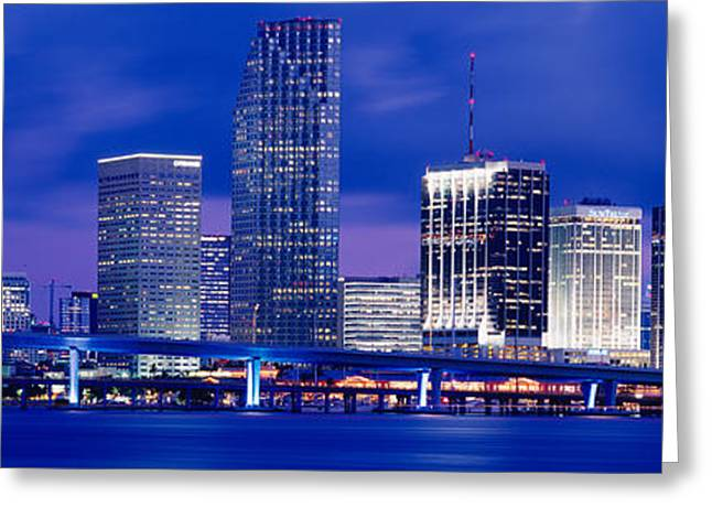 Biscayne Bay Greeting Cards - Miami, Florida, Usa Greeting Card by Panoramic Images