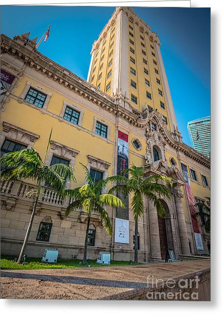 Liberty Building Greeting Cards - Miami Freedom Tower 1 - Miami - Florida Greeting Card by Ian Monk