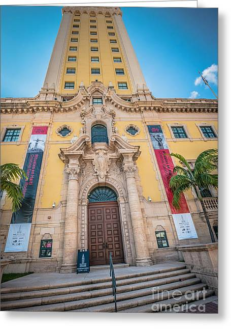 Liberty Building Greeting Cards - Miami Freedom Tower 2 - Miami - Florida Greeting Card by Ian Monk