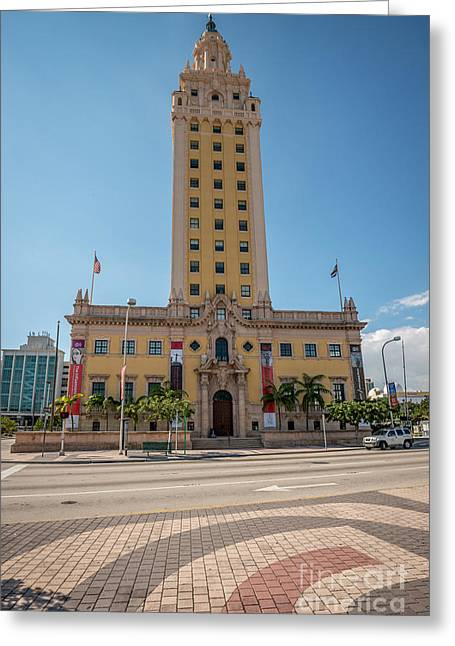 Liberty Building Greeting Cards - Miami Freedom Tower 3 - Miami - Florida Greeting Card by Ian Monk