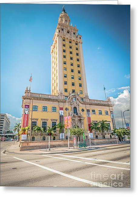 Liberty Building Greeting Cards - Miami Freedom Tower 4 - Miami - Florida Greeting Card by Ian Monk