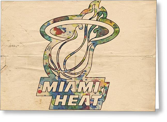 Slamdunk Digital Greeting Cards - Miami Heat Champions Poster Greeting Card by Florian Rodarte