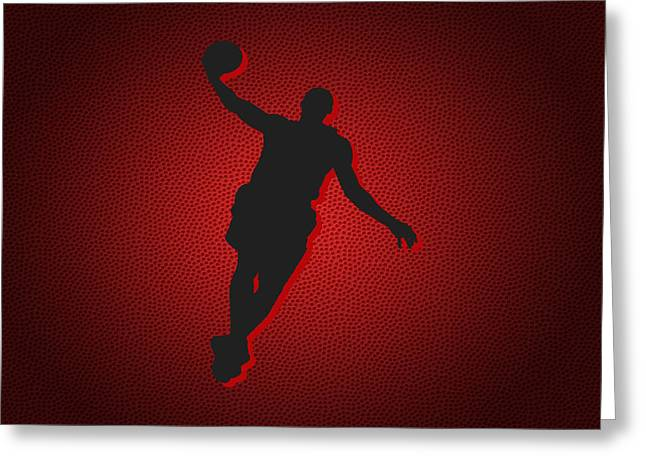 Miami Heat Posters Greeting Cards - Miami Heat Lebron James Greeting Card by Joe Hamilton