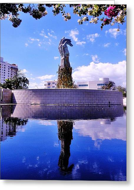 Genocides Greeting Cards - Miami Holocaust Memorial Greeting Card by Benjamin Yeager