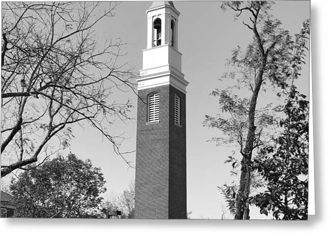 Miami University Beta Bell Tower Greeting Card by University Icons