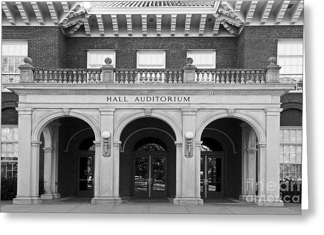 Hall Photographs Greeting Cards - Miami University Hall Auditorium Greeting Card by University Icons