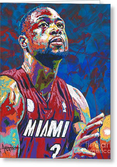 Miami Wade Greeting Card by Maria Arango
